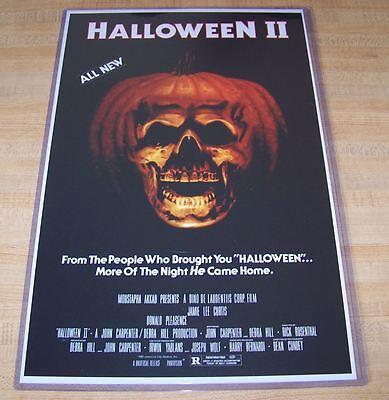 Halloween II 2 11X17 Movie Poster Michael Myers Original Version - Halloween Ii Poster