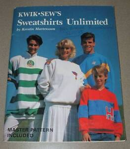 Kwik Sews - Sweatshirts Unlimited with Pattern - Dressmaking Book Morley Bayswater Area Preview