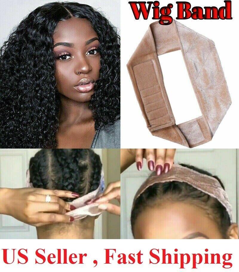 Wig Grip Adjustable HeadBand Velvet Elastic Comfort Fastern Wig Band Hair Care & Styling