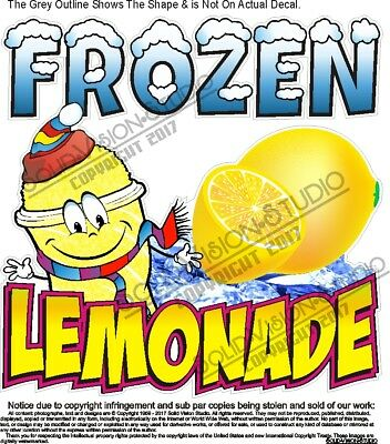 Frozen Lemonade Concession Trailer Food Truck Ice Cream Cart Sign Sticker Decal