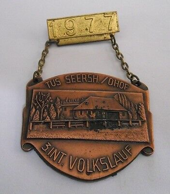 Aufwendige Medaille - TUS Seersh./Ohof - 3. Int. Volkslauf - Von 1977