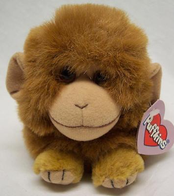 """Puffkins AMBER THE MONKEY 5"""" Plush STUFFED ANIMAL Toy NEW"""