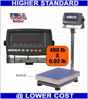 Used, 440 lbs Weight Digital Industrial Floor Shipping  Bench Scale Warehouse Gym Use for sale  Shipping to Nigeria