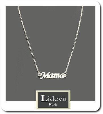 Collar Cadena Colgante Mama Dia de la Madre Metal Collar Plata