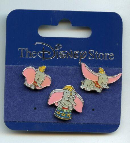 JDS Disney Japan Dumbo the Flying Elephant Mini Pin Set & Card