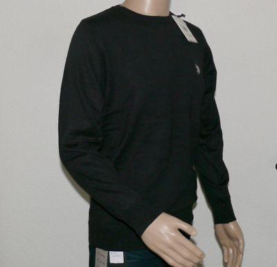 US POLO ASSN Herren Pullover Rundhals Ausschnitt Klassischer Schnitt Schwarz XL