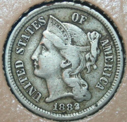 1882 Three Cent Nickel - Business Strike - 3CN