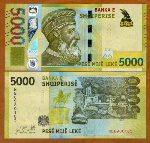 Albania, 5000 leke, 2017 (2019),  P-New, UNC > Redesigned