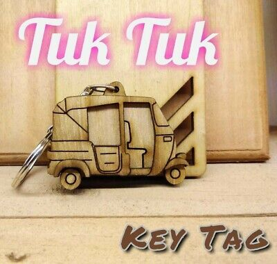 Keychain fit 3D Tree weel TUK TUK wooden handmade Keyring TreeWeel Best key tag
