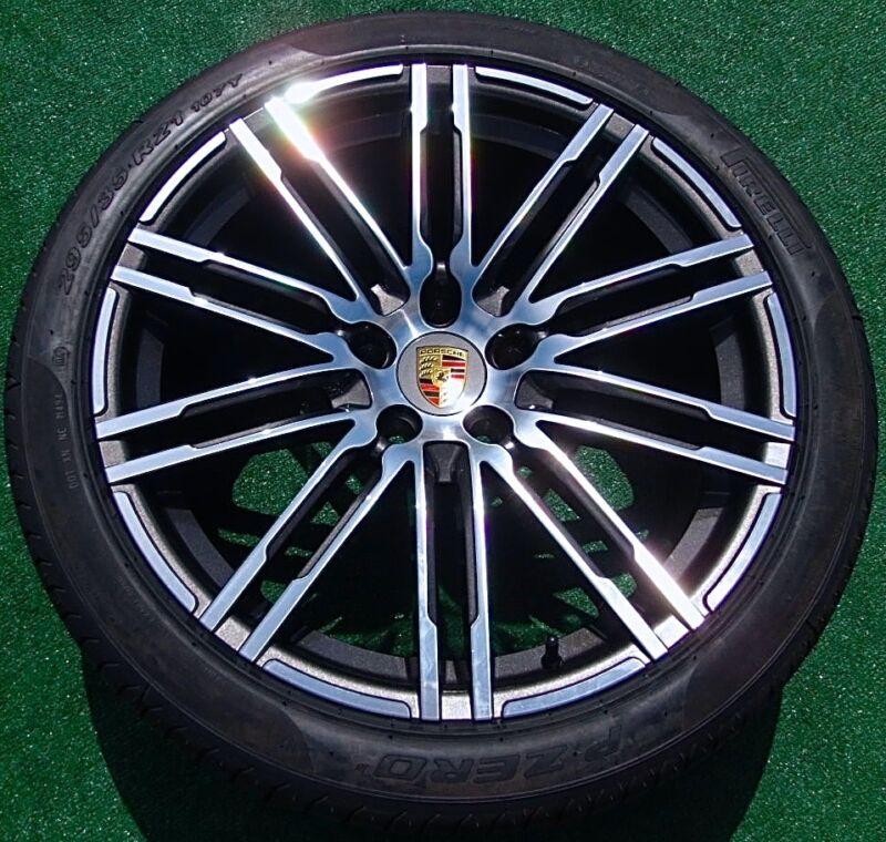 Porsche Cayenne Gts Turbo Design Oem Factory Style 21 Inch Wheels Pirelli Tires