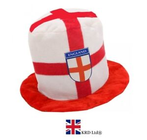 ENGLAND FLAG ST GEORGE HAT Rugby Adult Fancy Dress Football World Cup 2018 UK