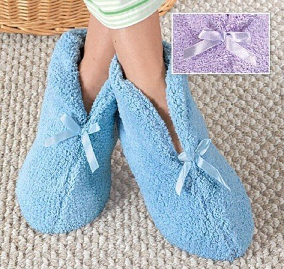 Chenille Diabetic Slippers Winter Warm Ultra Plush Cozy Slip Resistant Fluffy Clothing, Shoes & Accessories