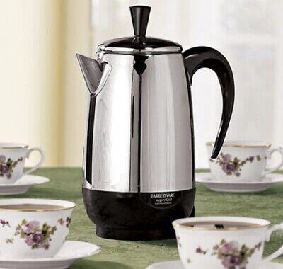 Farberware Percolators Stainless Steel Coffee Maker 1000-watt SIZE 2-4-8-12 CUPS