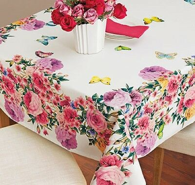 Butterfly Roses Tablecloth Table Cover Vibrant Beautiful Luxury Cloth Garden NEW](Butterfly Tablecloth)