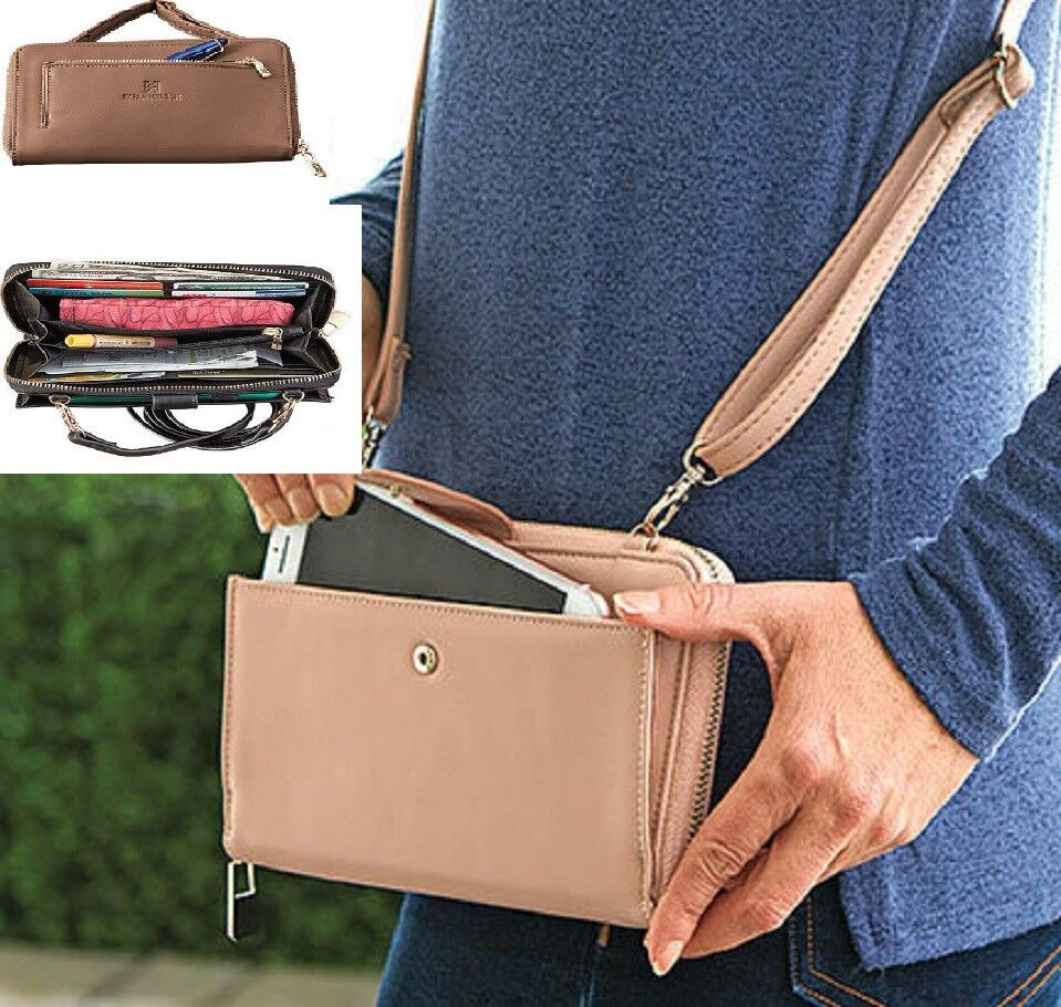 RFID Purse Wallet Karla Hanson Adjustable Strap advanced RFID Technology NEW Clothing, Shoes & Accessories