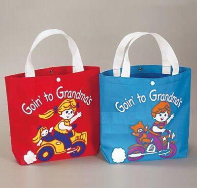 Tote Bag Going to Grandma's Kids Children Bag Goin to Grandma's Boy Girl Colors