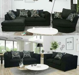 Luxury And Comfortable Dylan Jumbo Cord Corner Sofa Easy Home Delivery