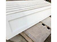 Reinforced plain concrete gravel boards with recess centre
