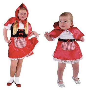 Rotkäpchen Mädchen Kinder Baby Kleinkind Rotkäppchen Kostüm Kleid Märchen (Rotkäppchen Kostüm Mädchen)