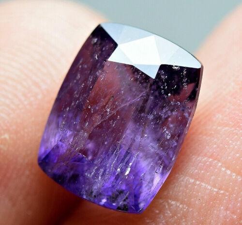 2.80  ct Fluorescent Bi Color Scapolite Unusual Top Cut Gemstone