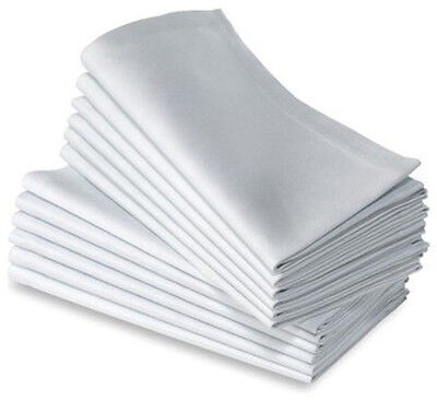 12 100% COTTON RESTAURANT DINNER CLOTH LINEN WHITE 21X21 PREMIUM NAPKINS