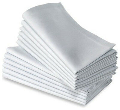 48 COTTON RESTAURANT DINNER CLOTH LINEN NAPKINS WHITE 20''X20'' WEDDING GRADE