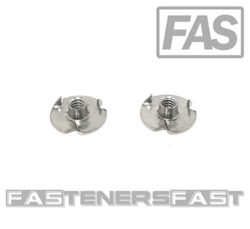 (25) Stainless Steel T-Nut 10-24 x 3/16 (3 Prong)  18-8 - Fast Free Shipping
