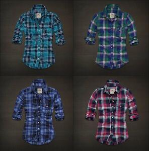 Hollister-Womens-Brooks-Street-Button-Down-Plaid-Check-Shirt-Top-Multi-Sz-NWT