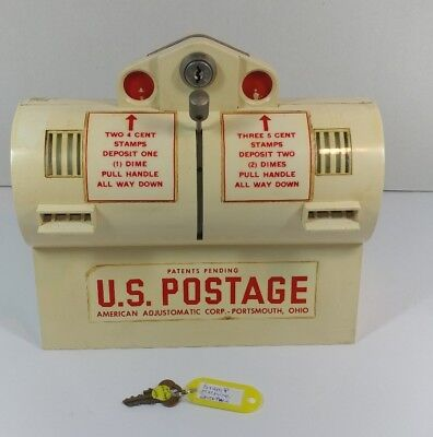 U.S. Postage Stamp Vending Machine American Adjustomatic Corp,VTG Post Office