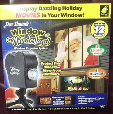 Star Shower Window Wonderland: Display Halloween/ Christmas Movies As Seen on TV](Halloween Displays 2017)