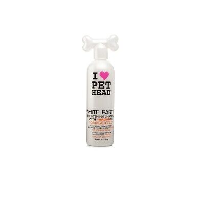 PET HEAD White Party Shampoo for Dog 12 oz - Orangelicious Sparkling Brightening