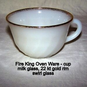 Vintage, Fire-King Oven Ware, tea cups, lke new