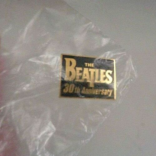The Beatles, 30th Anniversary, Gold Metal Pin Back, Capitol PROMO (1994) Sealed