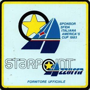 ADESIVO-STICKER-STARPOINT-AZZURRA-SPONSOR-SFIDA-ITALIANA-AMERICA-039-S-CUP-1983
