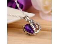 Elegant Charm Crystal Heart-shaped Pendant With Necklace