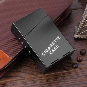 Aluminium Flip up CIGARETTE BOX . . . . Black colour, metal cigaret case cigeret