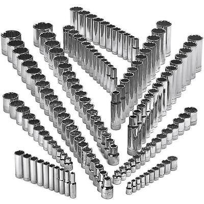 12 Point Sae Socket - Craftsman 142 Piece 12 Point Socket Set Deep & Standard 1/4 3/8 1/2 Dr SAE MM