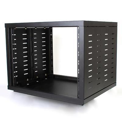 "NEW PA DJ 8RU 19"" Portable Equipment Storage Rack Mount Case.on wheel casters.8u for sale  USA"
