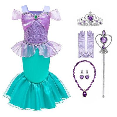 Kleine Meerjungfrau Prinzessin Ariel Kostüm Kleid Mädchen Kinder - Kleine Meerjungfrau Kostüme Mädchen