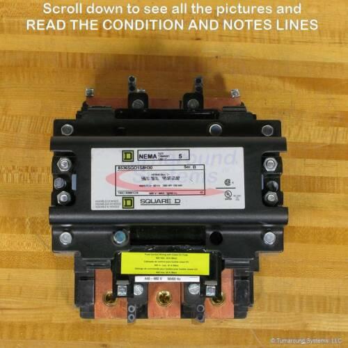Square D 8536SGO1V06 Starter, Size 5, 8502SGO2, MISSING PARTS, NEW