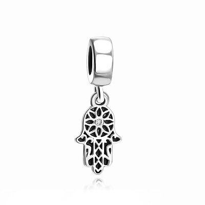 Design Silver Bead Charm (Hand Design Lucky Patterns Silver Charm New Bead Fit 925 Sterling Bracelet Chain )