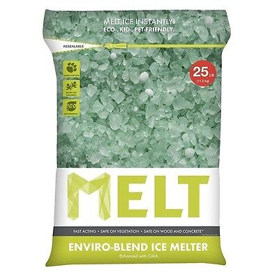 (Snow Joe MELT25EB Melt Enviro Blend Ice Melter with CMA Resealable Bag 25 Lb New)