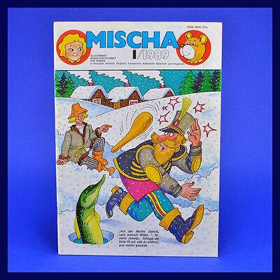 DDR ▶ Mischa 1/1989 Kinderzeitschrift ▶ Hase und Wolf