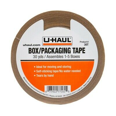 U-haul Packaging Paper Tape 30yds Rolls Self Adhesive Easily Tears By Hand 30t