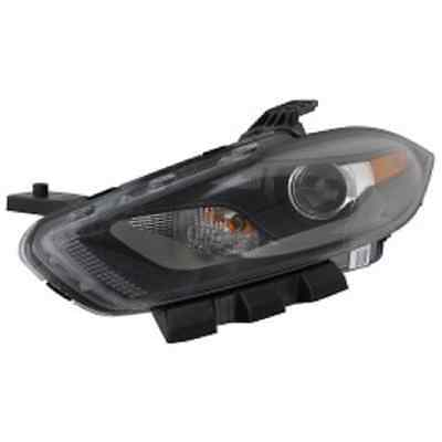 New Dodge Dart 2013 2014 2015 left driver HID headlight head light black bezel