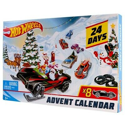 2019 Hot Wheels NEW * Advent Calendar * Christmas Holiday Cars Accessories