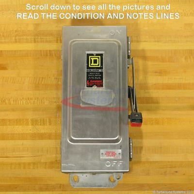 Square D Hu361dsei Safety Switch 30 Amp Stainless Used