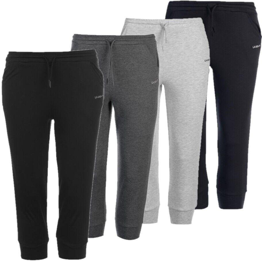 ✅ LA GEAR 3/4 Damen Jogging Hose Dreiviertel Sport Fitness Freizeit Shorts NEU