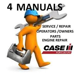 CASE IH MX245 TRACTOR **4 MANUALS** SERVICE REPAIR, ENGINE, OWNERS, PARTS, PDF