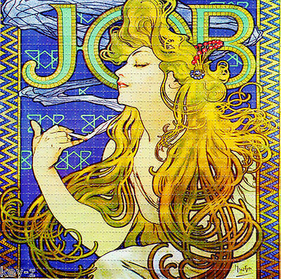 JOB rolling papers  BLOTTER ART perforated psychedelic LSD Acid Art paper sheet